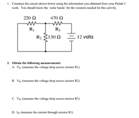 Construct the circuit shown below using the inform