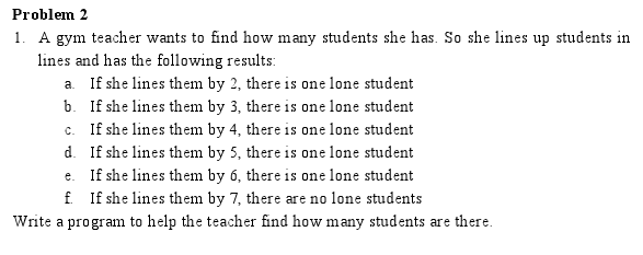 A gym teacher wants to find how many students she