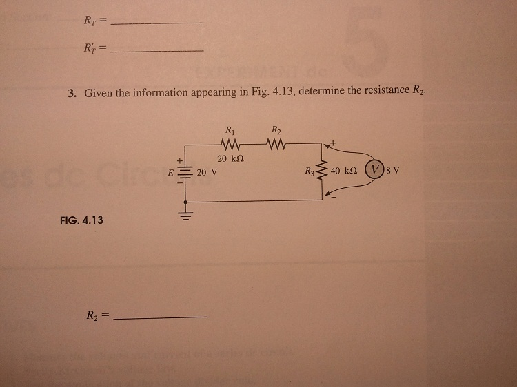 Given the voltage levels of Fig. 4.12, determine t