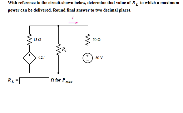 With reference to the circuit shown below, determi