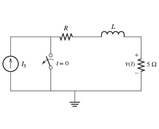 Consider the circuit shown in the figure. Is = 2.4