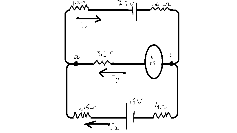 Q.6.Consider the circuit. Find the current through