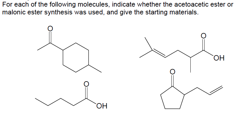 For each of the following molecules, indicate whet