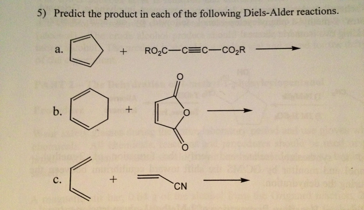 Predict the product in each of the following Diels