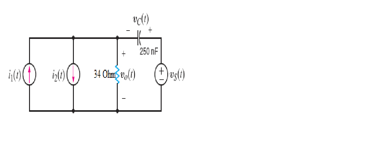 Calculate v0(t) in the circuit shown in the figure