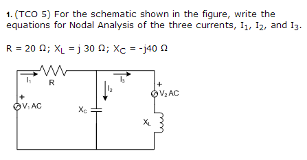 For the schematic shown in the figure, write the e