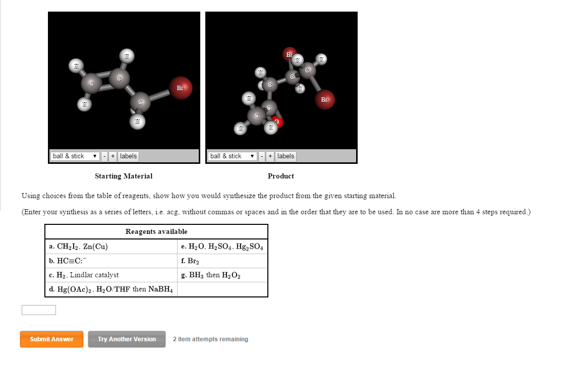 Solved using choices from the table of reagents show how for Table use th