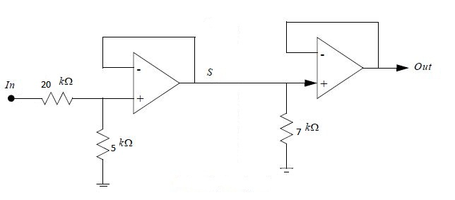 Image for for the attached op amp buffer determine the gain, bandwidth and transfer function.