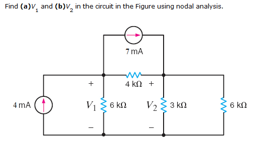solved  find  a v1 and  b v2 in the circuit in the figure