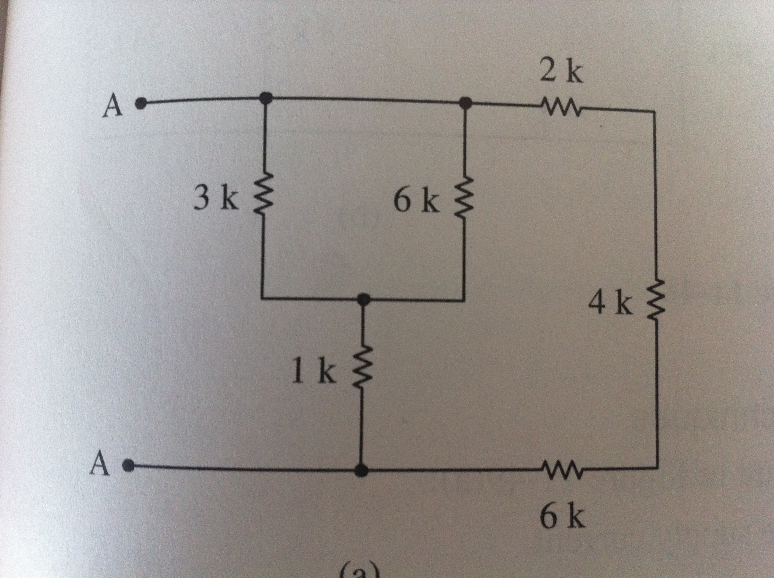 find the combined resistor Ra if the 4kohm resisto