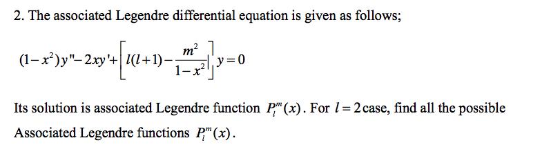 associated legendre differential equation pdf