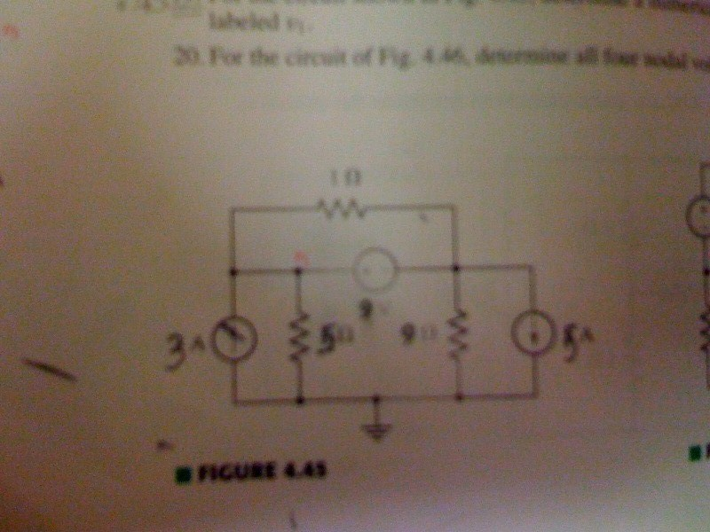 From the circuit of Fig. 4.46, determine all the