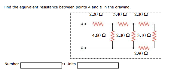Find the equivalent resistance between A and B poi