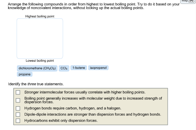 Rank The Following Compounds According To Their Boiling Point Pentane Solved: Arrange...