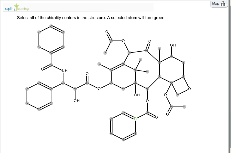 Select all of the chirality centers in the structu