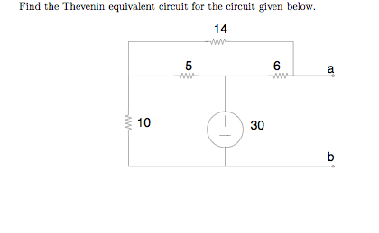 Find the Thevenin equivalent circuit for the circu