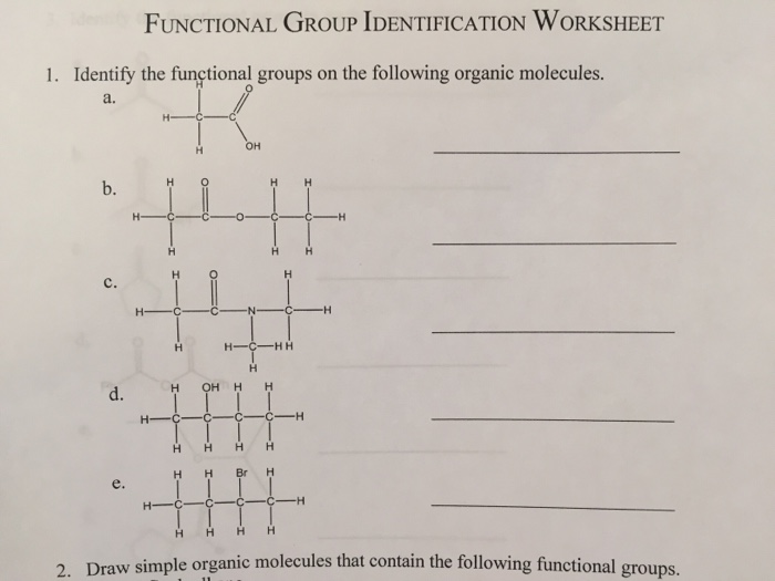 organic functional groups worksheet wiildcreative. Black Bedroom Furniture Sets. Home Design Ideas