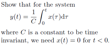 Show that for the system where C is a constant to