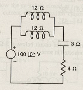16. In the circuit shown below, the voltage across