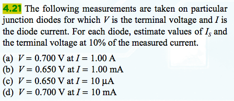 The following measurements are taken on particular