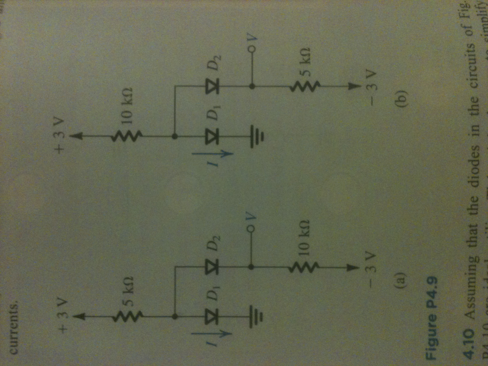 Question 4.41 asks to solve for the labeled voltag