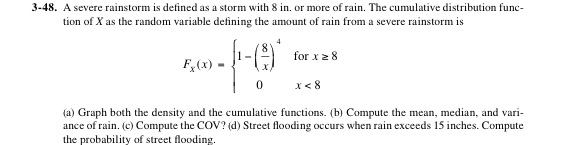 A severe rainstorm is defined as a storm with 8 in