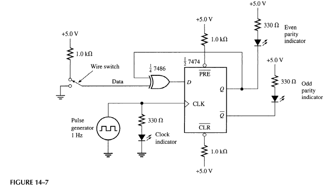 solved  the serial parity test circuit in figure 14