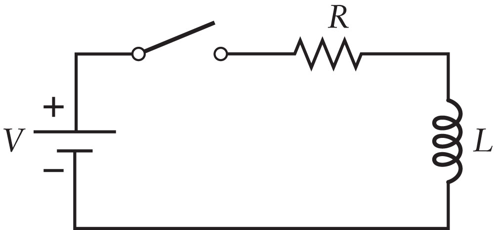 Consider an RL circuit as shown in the Figure with