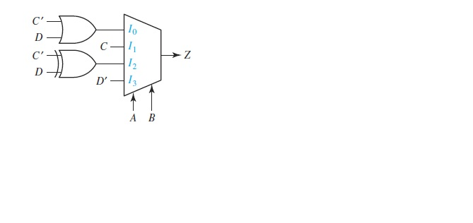 1. Represent the given circuit using a process wit