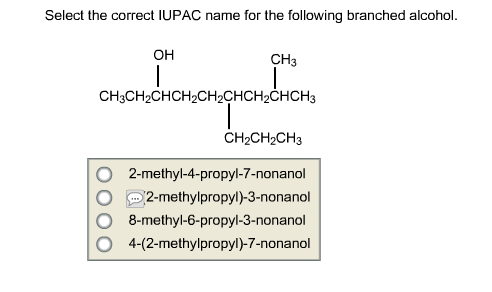 Select the correct IUPAC name for the following br