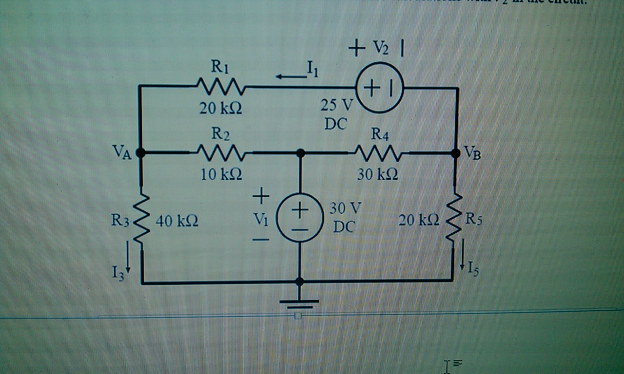 For the circuit shown in the figure, use the princ