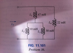 Find the total inductance of the circuit of Fig.11