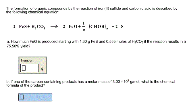 The formation of organic compounds by the reaction