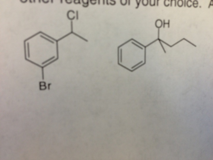 Design a synthesis of the following compounds star