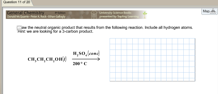 Draw the neutral organic product that results from