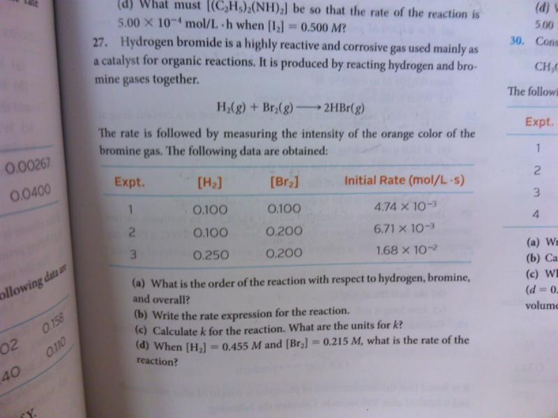 s. What is the order of the reaction with respect