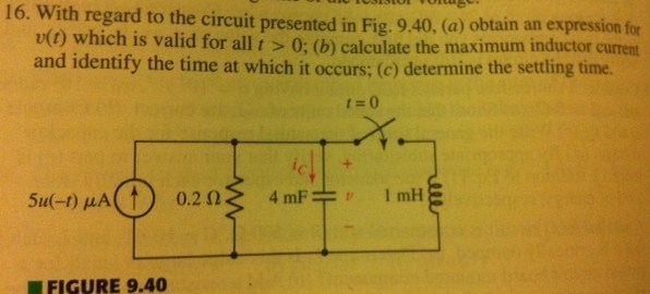 With regard to the circuit presented in Fig. 9.40.