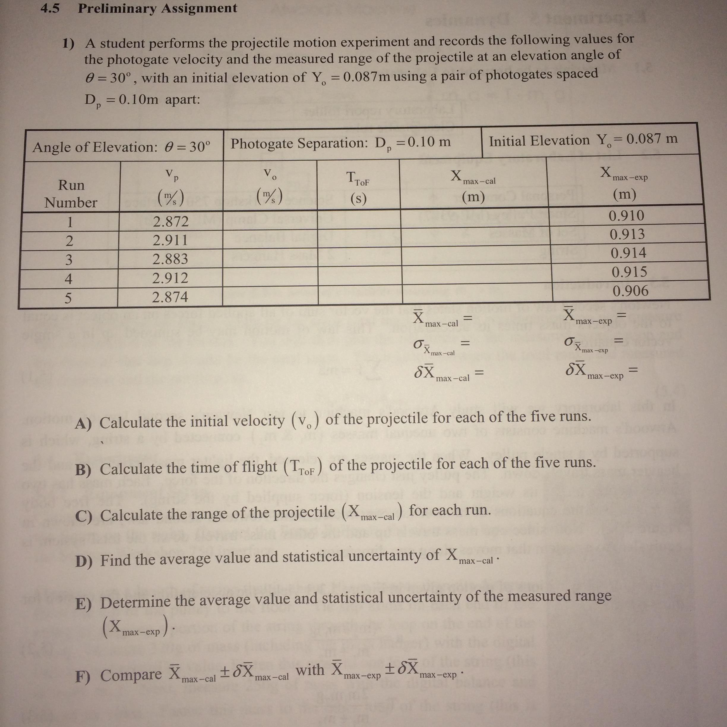Need help about projectile motion!!!!!!Pleasee!?