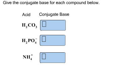 how to write conjugate acid and base of a compound