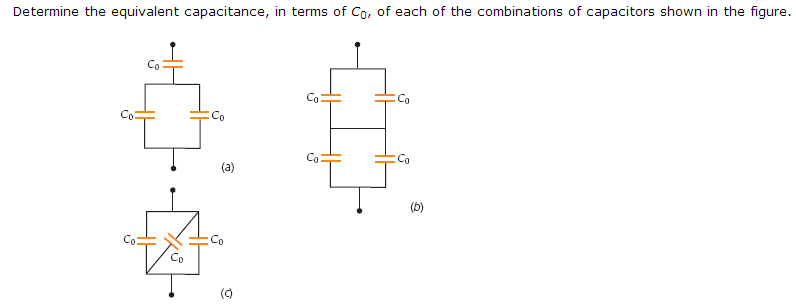 Determine the equivalent capacitance, in terms of