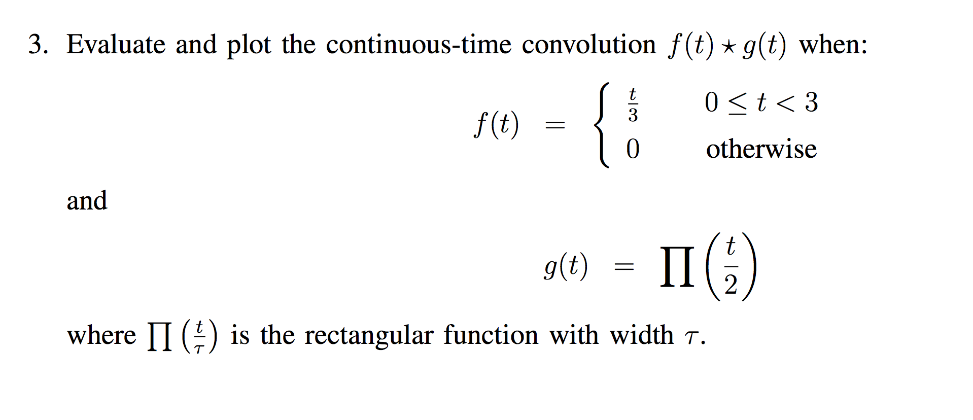 Evaluate and plot the continuous-time convolution