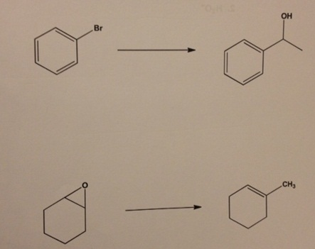 Provide a synthesis for the following molecules fr