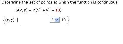 Determine the set of points at which the function