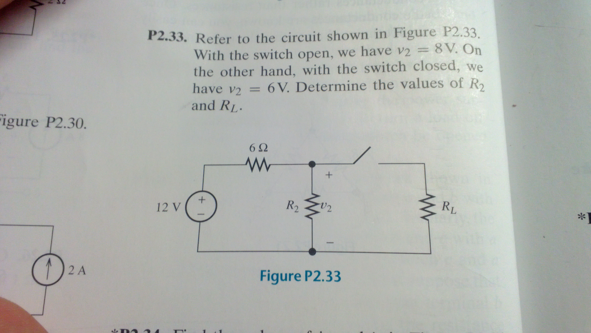 Refer to the circuit shown in Figure 1*233. With t