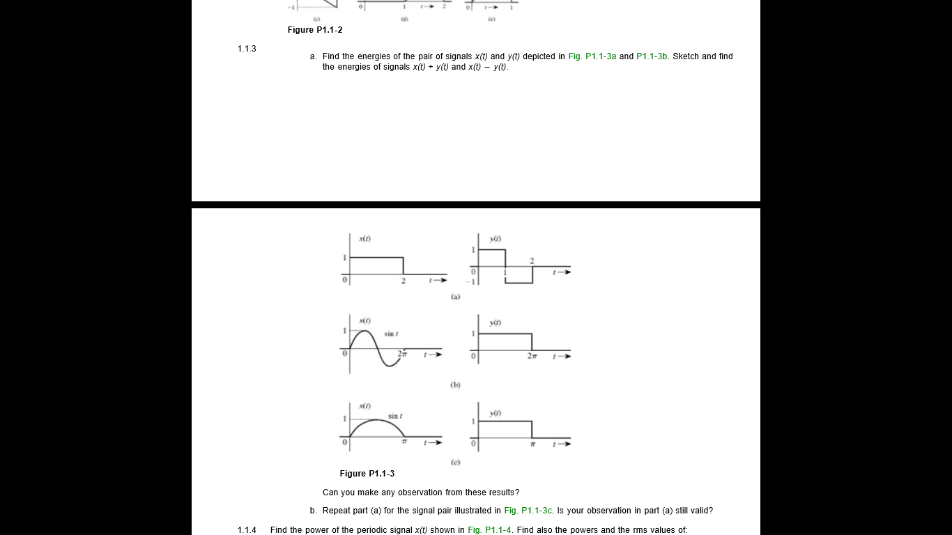Can someone answer 1.1-3 in the pic with steps