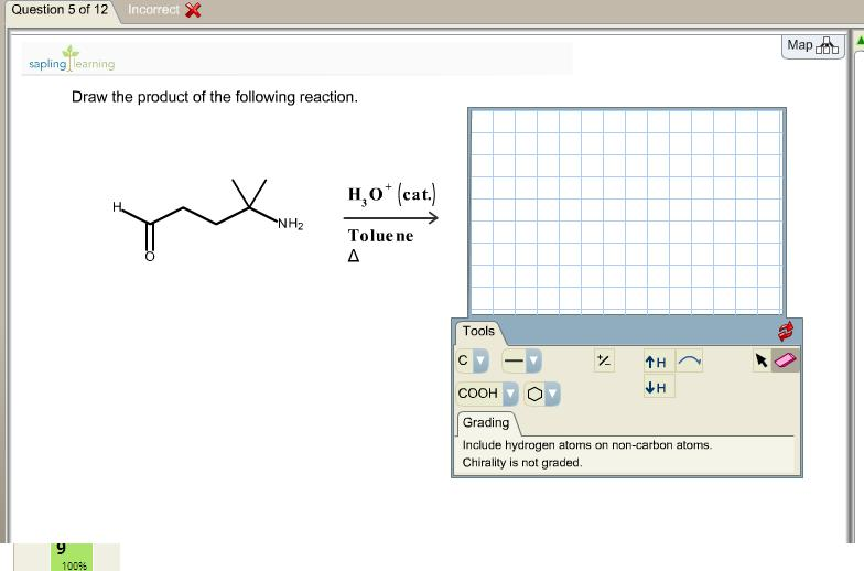 Draw the product of the following reaction.