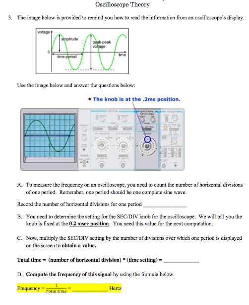 Oscilloscope Theory The image below is provided t