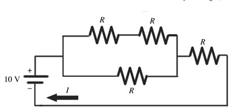 When four identical resistors are connected to an