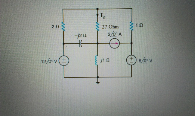 Find Io in the circuit in the figure below using n