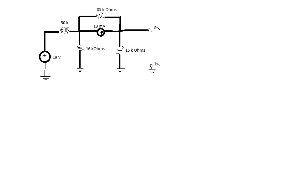 Find the Thevenin equivalent of the circuit shown.